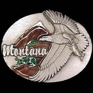 Sports Accessories - Montana Eagle Enameled Belt Buckle