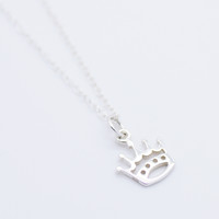 Crown Sterling silver necklace