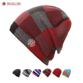 4a33c544fa3d7 SK 2018 Warm Winter Hat Knitted Beanies Hiking Hats For Men Women