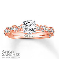 Angel Sanchez Ring 1 1/4 ct tw Diamonds 14K Two-Tone Gold