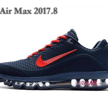 Light Nike Air Max 2017. 8 KPU Dark Blue And Red Sneakers Men's Running Shoes