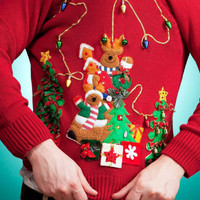 Ugly Mystery Sweaters / Hipster Sweaters / Costume Sweaters / Christmas Sweaters / Grunge Sweaters/ Silly Sweaters - All Sizes
