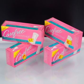Vintage Carefree Essentials Pantie Liners Feminine Products 4 PKG Johnson 1993