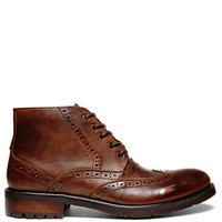Steve Madden Leather Brogue Ankle Boots