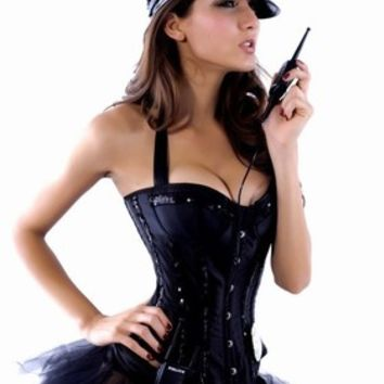 Womens Adult 6Pcs Sexy Police Cop Costume Fancy Dress Outfit #515