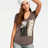 O'neill Explore Womens Tee Charcoal  In Sizes