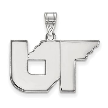 NCAA Sterling Silver U. of Tennessee Medium Pendant Necklace