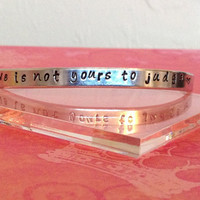 Love is not yours to judge  Aluminum Cuff by KennabelleDesigns