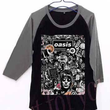 Oasis Element Unisex Men Women Black Long Sleeve Baseball Shirt Tshirt Jersey
