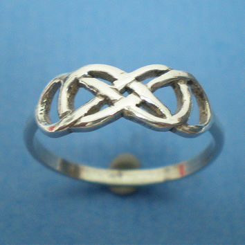 Celtic Knot Double Infinity X Infinity Ring Silver Friendship Anniversary Birthday Valentine Gift - Revenge - infinity times infinity