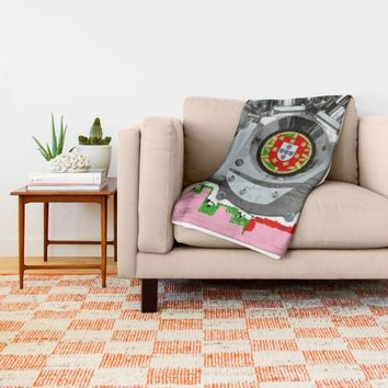 Portuguese Hot Pink Pan. Throw Blanket by Tony Silveira