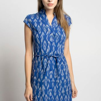 Sale Cobalt Blue Button Dress