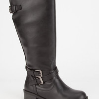 Soda Bio Girls Boots Black  In Sizes