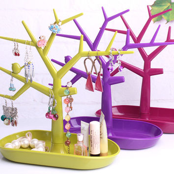 Free shipping Bird multifunctional jewelry holder accessories display rack earring rack ring frame bracelet storage tree shelf