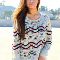 Rule Out My Glitter Sweater - Maroon