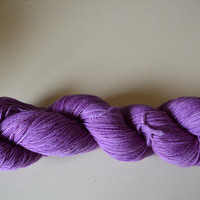 Hand Dyed Bluefaced Leicester Superwash Fingering/Sock Thistle