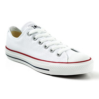 Converse All Star Chuck Taylor White Lace-up Ox Low Tops 11.5 NWOB
