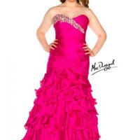 A-line Sweetheart Neckline Ruffles Satin Plus Size Prom Dresses / Homecoming Dresses 4978 - Missyprom.com