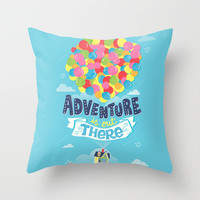 Adventure is out there Throw Pillow by Risa Rodil
