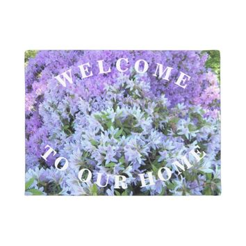 Rhododendron Bouquet Floral Welcome Doormat