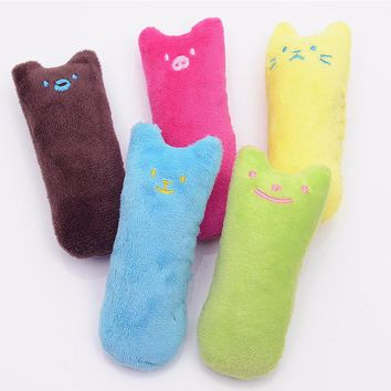 Nicrew Cute Plush Cats Toy Fancy Chewing Toy Interactive Fancy Pets Cats Teeth Grinding Catnip Toys Claws Thumb Bite Cat Mint