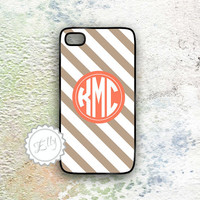 iphone case 4 cool stripe in brown and orange color design your own iphone4 cases