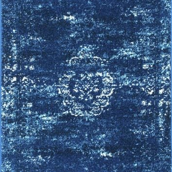 NuLOOM Tanja Overdyed Medallion Rug Blue