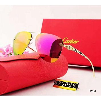 GPONMI Cartier 2018 new style rimless polarized sunglasses with a pair of sunglasses.