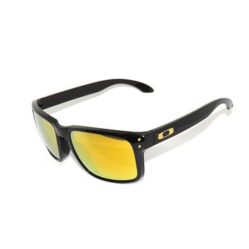 NEW* OAKLEY HOLBROOK 9102-E3 POLISHED BLACK/24K IRIDIUM SUNGLASSES