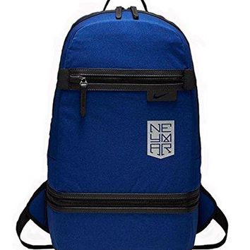 NIKE Neymar Premium Soccer Backpack Royal Blue Black Silver BA5317-455