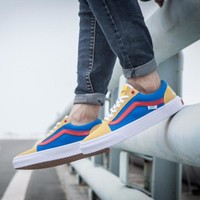 "Vans X Golf Wang old skool pro ""Brown/Blue"""
