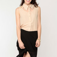 Lace Inset Spike Top