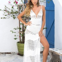 Two Piece Lace Beach Dress