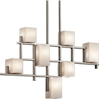 "0-027493>35""w City Lights 7-Light Chandelier Classic Pewter"
