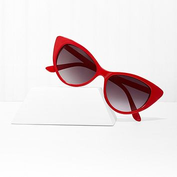 Mood Swing Red Cat Eye Sunglasses