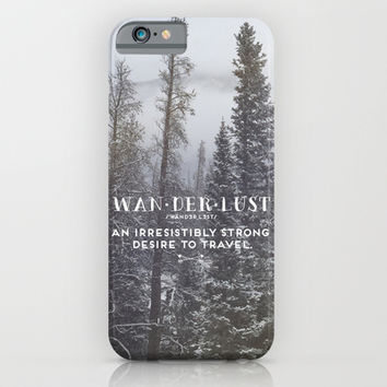 Wanderlust Definition iPhone & iPod Case by EG Design
