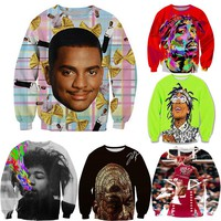 2017 new men/womens 3D sweat shirts character printed Cartoon graphic/jordan/tupac sweatshirt funny pullover hoddies tops