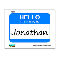 Jonathan Hello My Name Is Sticker