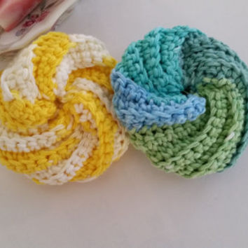 Shop Crochet Kitchen Scrubbies On Wanelo Simple Crochet Spiral Scrubbies Pattern