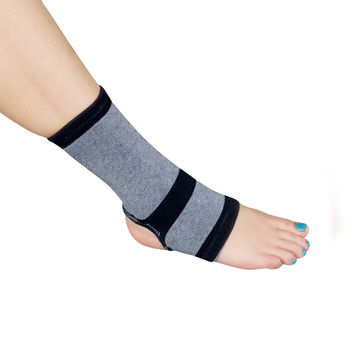 Evelots 1 Bamboo Ankle Wrap Support/Compression Arthritis Brace - Large
