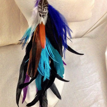 Custom made Mr.T statemnet feather ear cuff or earring