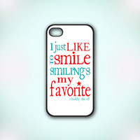 Christmas Elf Movie Quote - Design Print for iPhone 4/4s Case or iPhone 5 Case - Black or White