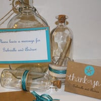 Message in a Bottle Message in a Bottle - Wedding Guest Message Center/beach/nautical/guest book
