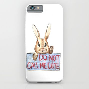 Angry rabbit iPhone & iPod Case by Color And Color