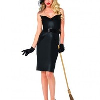 Vintage Witch Knee Length Halloween Costume Set from Cosplay Costume Closet