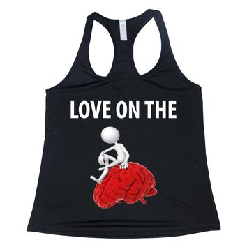 Love On The Brain Women's Racerback Tank