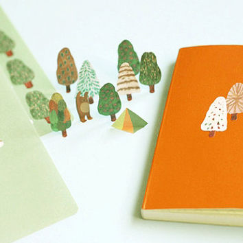 Kawaii Nordic Forest set of Sticker Sheets