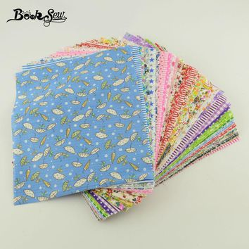 Scrpbooking No Repeat Colors and Design Cotton Fabric 50pieces Sewing Dolls Toys 10cmx12cm Fabric Other Art Work Stash Crafts