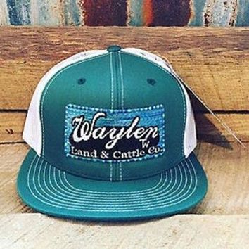 Waylen Land And Cattle Green Serape Classic Snapback Trucker OSFA