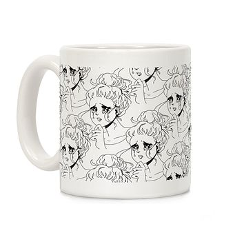 Crying Manga Girl Ceramic Coffee Mug by LookHUMAN
